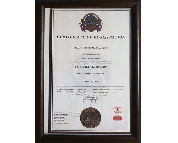 ISO 22000:2005 bozkuş